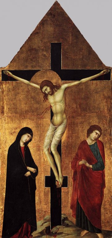 Crucifixion with the Virgin and St. John the Evangelist by Ugolino di Nerio