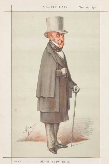 """Men of the Day No.14 ""A faithful friend, an eminent servant, and the best possible president"" Sir Roderick Murchison"" (Image plate from Vanity Fair), 1870 by Carlo Pellegrini"