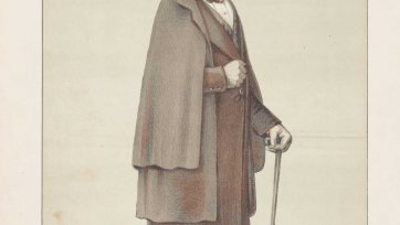 """Men of the Day No.14 ""A faithful friend, an eminent servant, and the best possible president"" Sir Roderick Murchison"" (Image plate from Vanity Fair), 1870 Carlo Pellegrini"