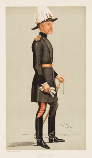 """Aldershot Cavalry"" Major General Reginald Talbot (Image plate from Vanity Fair), 1897 by Sir Leslie Ward"