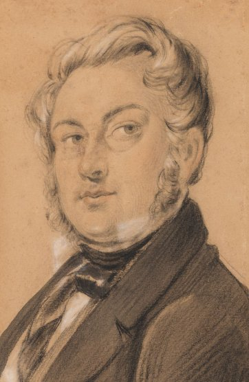 Self portrait, c. 1849 by Charles Rodius