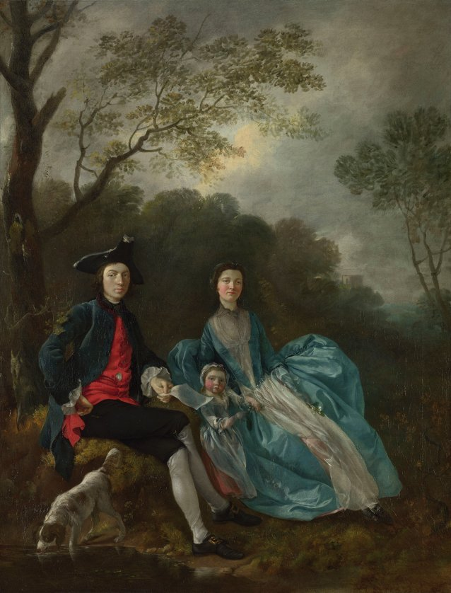 The Artist with his Wife and Daughter, c.1748 by Thomas Gainsborough