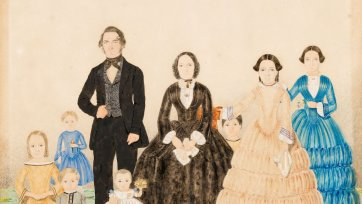 George and Jemima Billet with family, c. 1852 C.H.T. Costantini