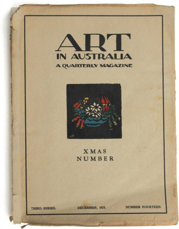 Christmas Bells Cover for Art in Australia December, 1925