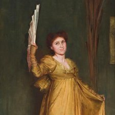 Practising the Minuet (Miss Hilda Spong), 1893 by Tom Roberts