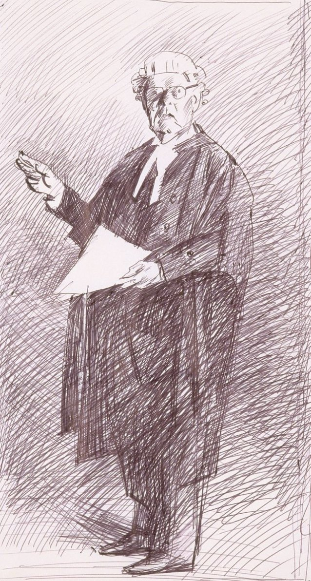 Preparatory study for the portrait of the Hon Tom Hughes QC