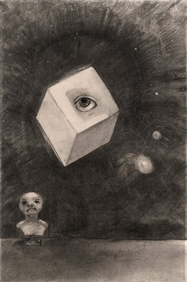 The Cube, 1880 by Odilon Redon