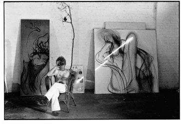 Brett Whiteley with binoculars, 1971 Greg Weight