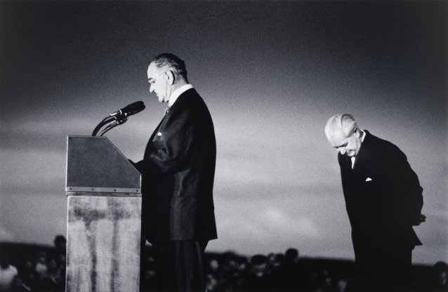 President Johnson and Prime Minister Holt at Canberra Airport
