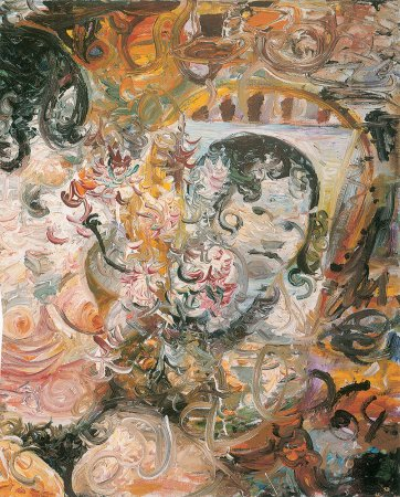 Kathy and the Mirror (detail) 1964, by John Perceval