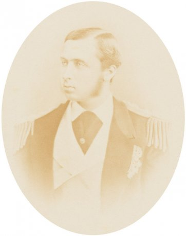 HRH Prince Alfred, c 1868 by an unknown artist