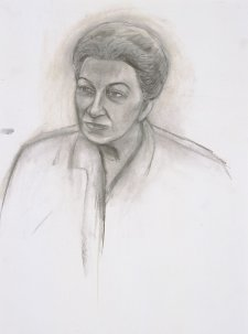 Preparatory study for General Eva Burrows AC AO, 2001 by Gabrielle Martin