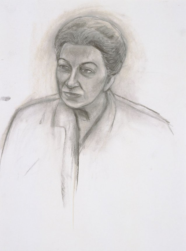 Preparatory study for General Eva Burrows AC AO