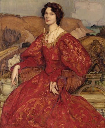 The red shawl (Olave