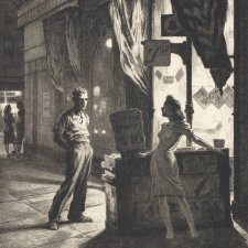 Chance meeting, 1940-41 by Martin Lewis