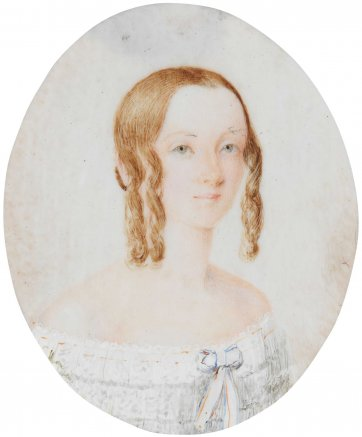 Portrait of Julia Swan, c 1842 by an unknown artist