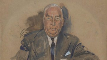 Sketch for Prime Minister Robert Menzies, 1960 William Dobell