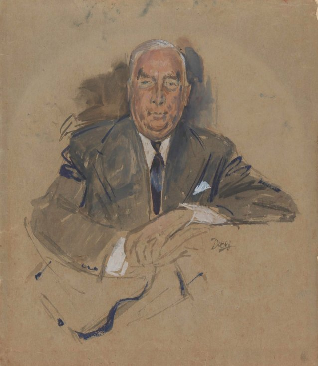 Sketch for Prime Minister Robert Menzies, 1960 by William Dobell