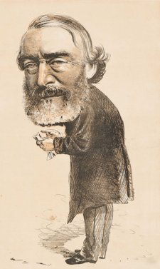 "An Irish Patriot. ""Why is Ireland Poor? I'm not!"" [Sir Charles Gavan Duffy] from the series ""Masks and Faces"", 1874 Tom Durkin, The Weekly Times"