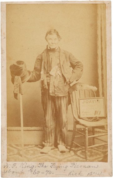 William Francis King, 'The Flying Pieman', c. 1869 by John Davis