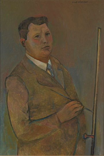 Self portrait at easel, 1960-61 Fred Williams