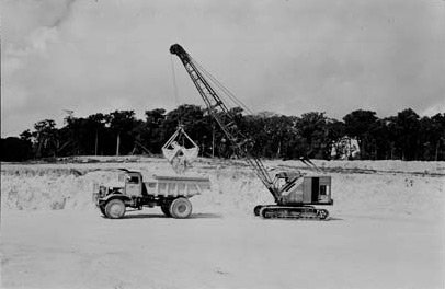 Phosphate mining and loading, 1973