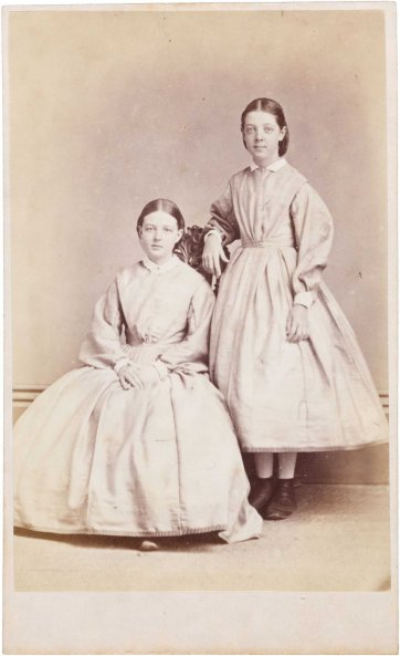 Sarah and Ann Jacob, c.1866 Townsend Duryea