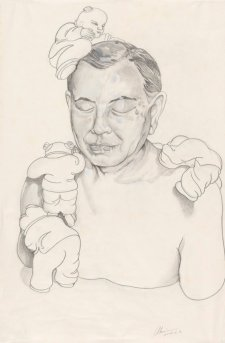Untitled (preparatory study for sculpture of Dr John Yu), 2003 by Ah Xian