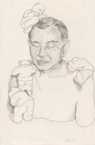 Untitled (preparatory study for sculpture of Dr John Yu), 2003 Ah Xian