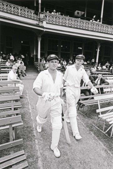 Norman O'Neill and Bill Lawry coming out to bat for Australia vs South Africa at the Sydney Cricket Ground, 1964 (printed 2018) Robert McFarlane