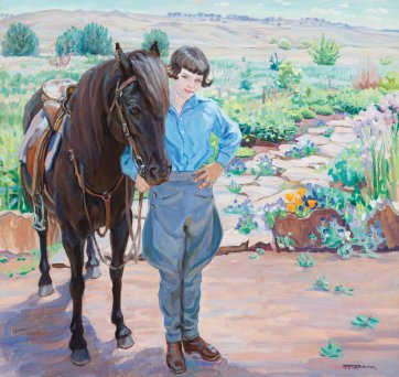 Phyl Maslin and her horse