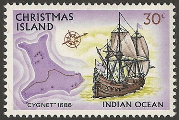 Christmas Island stamp, issued 1973