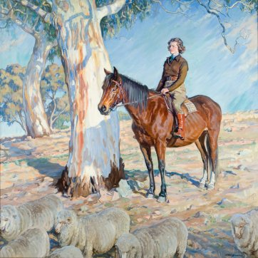 Bringing in the Sheep, c.1936 by Hilda Rix Nicholas