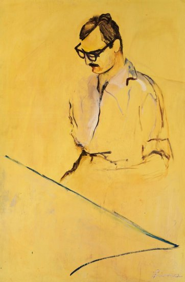 Yellow portrait (portrait of Alex Jelinek), 1955 Lina Bryans