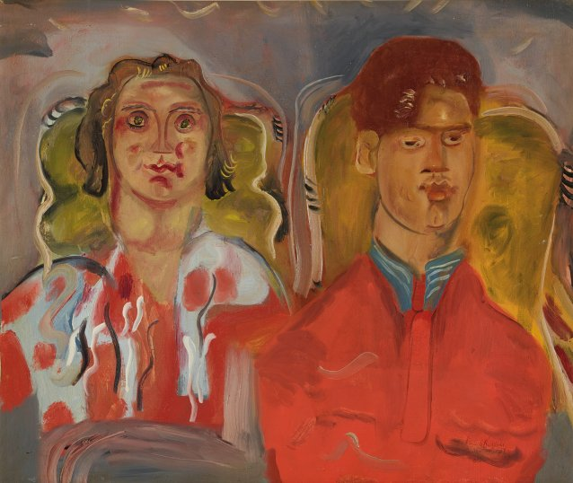 Double Portrait No. 2 (Katharine and Anthony West), 1937 by Frances Hodgkins