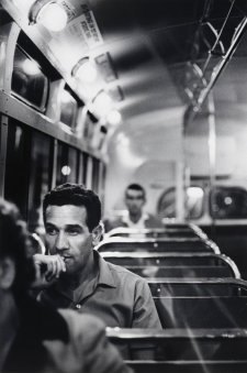 Charles Perkins on bus to Tranby Aboriginal College, Glebe, c. 1964 (printed 2003) Robert McFarlane