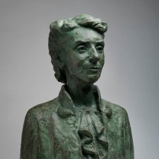 Portrait bust of Dr Christine Rivett, c. 1950 cast 1955-6 by Daphne Mayo