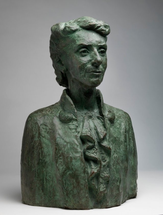 Portrait bust of Dr Christine Rivett