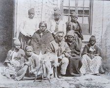 Aborigines at Oyster Cove, Tasmania, 1858 (printed 1890s) by Francis Nixon