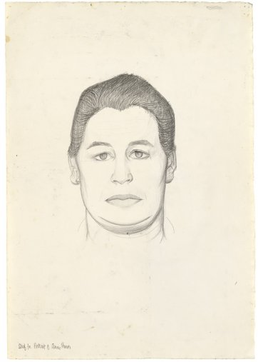 Study for portrait of Anne Purves, c.1958