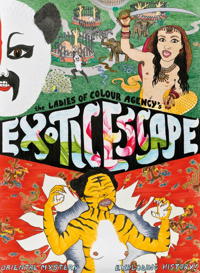The Ladies of Colour Agency 'Exotic Escape', 2011 by TextaQueen