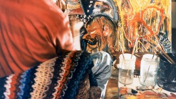 John Perceval painting 'Veronica and the Conspirators', 1967 Mark Strizic