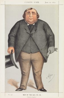 """Baronet or Butcher"" Sir Roger Doughty Tichborne (Image plate from Vanity Fair), 1871 Carlo Pellegrini"