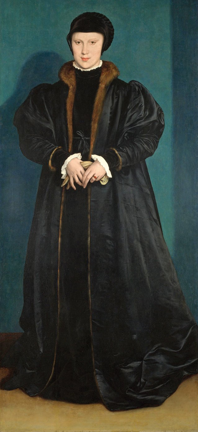 Portrait of Princess Christina of Denmark, 1538 by Hans Holbein the Younger