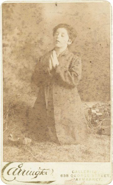 Clara Crosbie, aged 12 years, now on exhibition at the Australian Waxworks, c. 1885 Carrington Photo Galleries