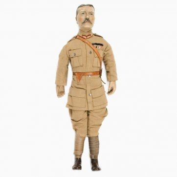 Lord Kitchener, bisque-headed patriotic doll c. 1914–16