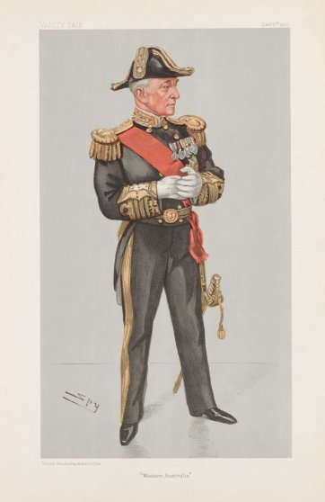 """Western Australia"" Sir Frederick Bedford (Image plate from Vanity Fair), 1903 by Sir Leslie Ward"