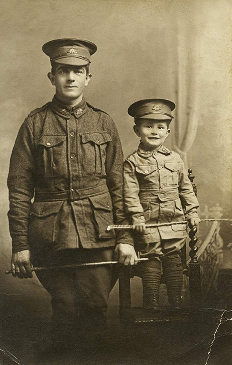 Arthur Goodwin with his son, also Arthur 1916 by Nada Studios