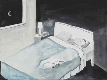 Sleeping with puppy, 2013 by Noel McKenna