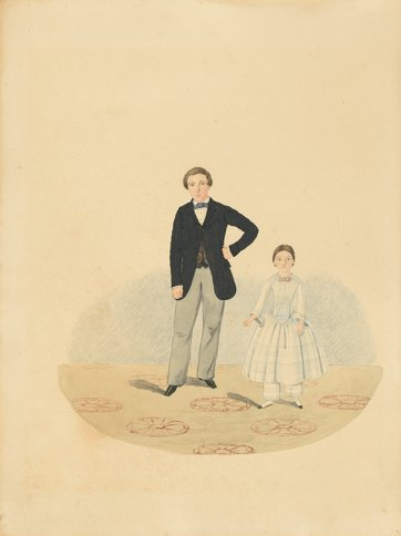 not titled (Gentleman and young girl) c. 1855 by CHT Costantini
